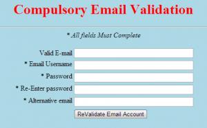 compulsory email valid